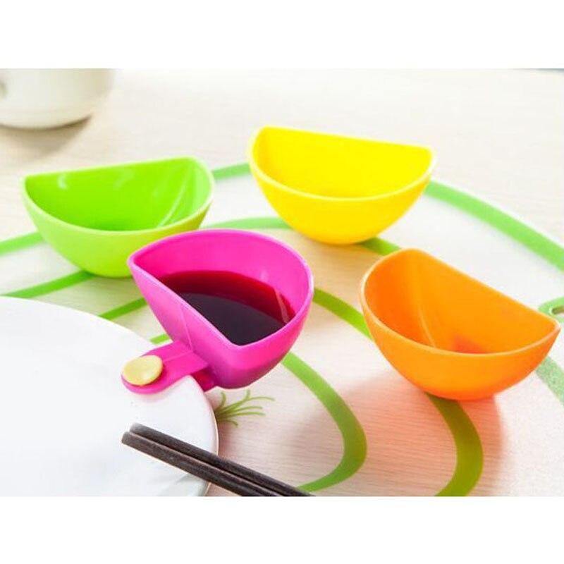 4 шт./лот Ассорти салат соус кетчуп Dip клип чаша блюдце посуда коробка для томатного соуса сахар Кухонные гаджеты