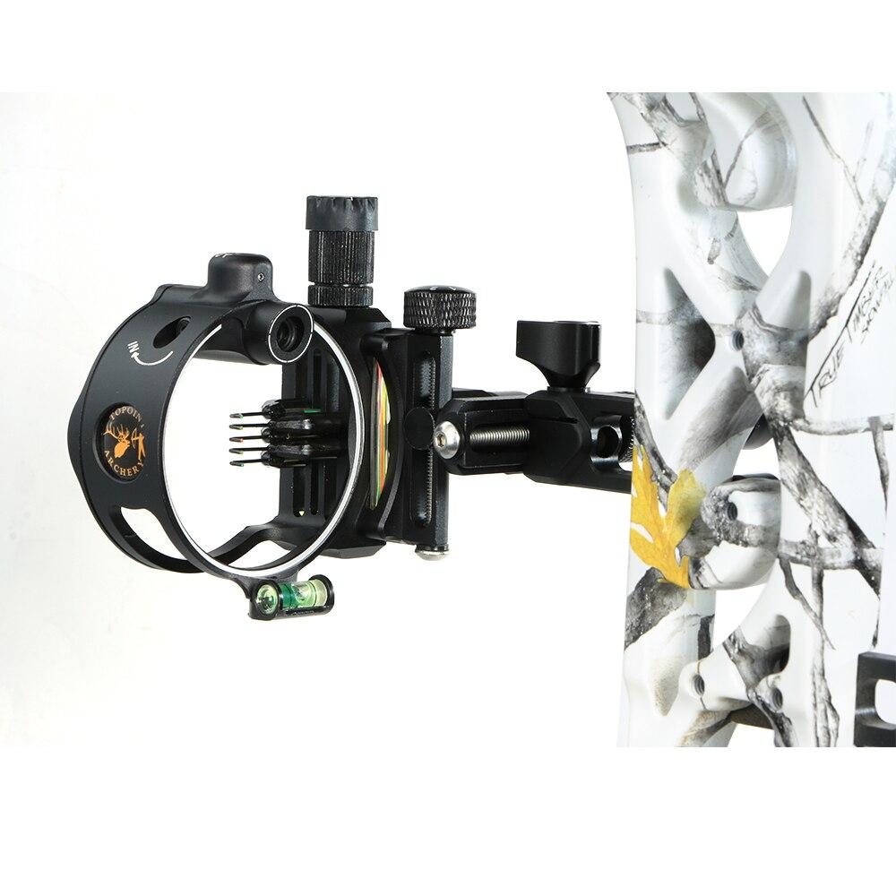 Toppoint 5 pin DB9150 arco vistas, serie DB Retina Micro ajuste mirilla luz para arco compuesto arquería caza
