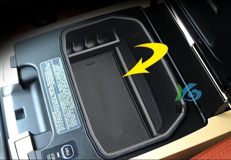 Compartimento Interior para reposabrazos Central, Caja de almacenaje para guantes, contenedor, bandeja, organizador de coche para Lexus LX570 LX 570, accesorios, 1 Uds.