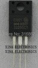 Kit de composition électronique de MBRF20200CT   MBRF20200 MBRF 20200CT 20A 200V TO-220 ROHS, 10 pièces/lot originaux, livraison gratuite