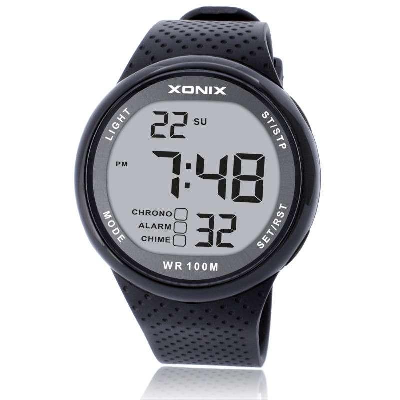 رائعة!!!! ساعات رياضية للرجال مقاومة للماء, ساعة يد رياضية رقمية للرجال مقاومة للماء حتى 100 متر ، ساعة يد للسباحة والغوص