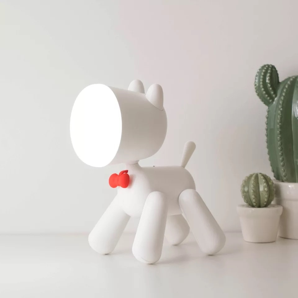 Creative Janpim new strange lights puppy night light with reading 3 block dimming children USB charging 3D table lamp