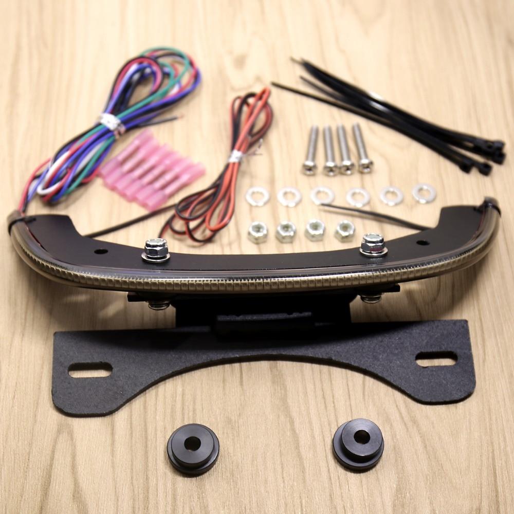 LED Fender Eliminator Integrated Tail Light Smoked Bar For Harley V-Rod V Rod Night Rod 2012-2017