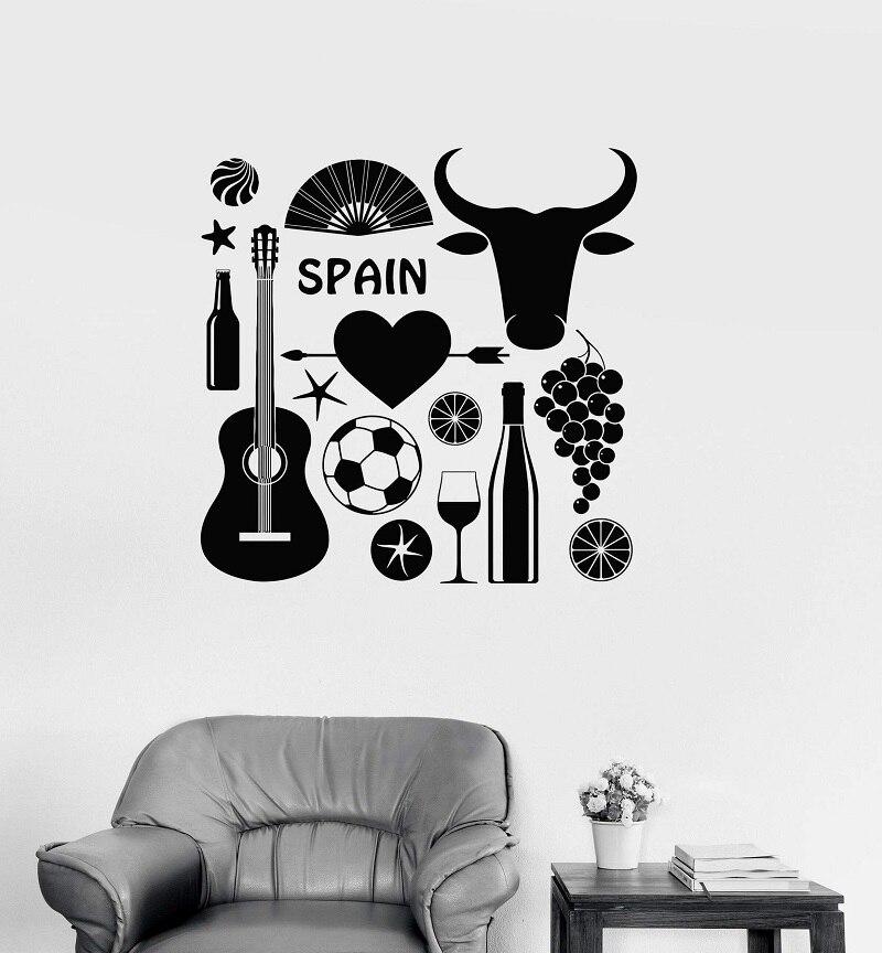 Vinilo Adhesivo de pared España Flamenco toreo alcohol europeo interior sala de estar dormitorio decoración KT18