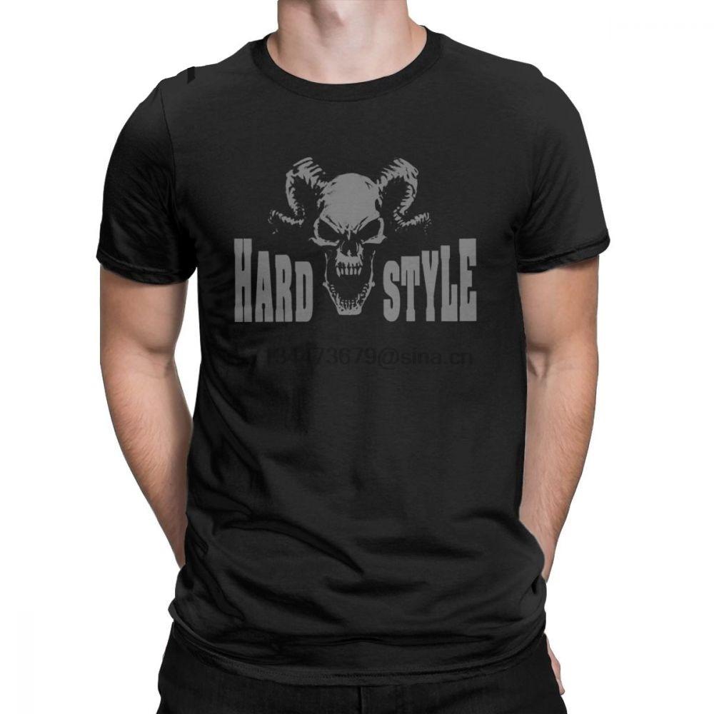 Homens Techno Hardstyle T-shirts Música Hardcore Defqon Dança DJ Club Party EDM Presente Roupas de Algodão de Manga Curta T Camisetas