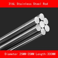 316L Stainless steel round bar Diameter 25mm 30mm 35mm Length 300mm metal rod