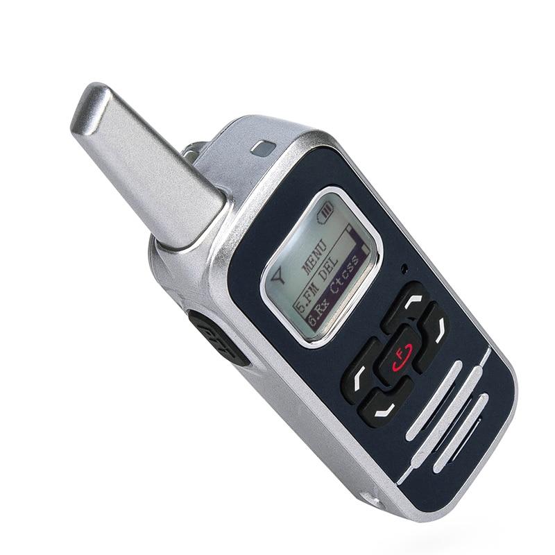 1PCS HOT SALE M6P 2W two way radio 128 channel 400-520mhz with LCD display ham FM radio mini walkie talkie