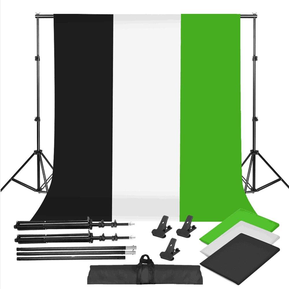 ZUOCHEN черно-белый зеленый фон для фотостудии с изображением хрома и клавишей