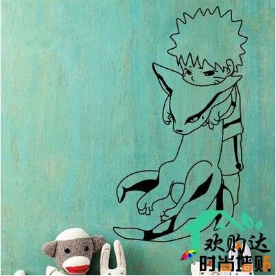 Naruto animated cartoon wall stick laptop stickers anime fans love gaara