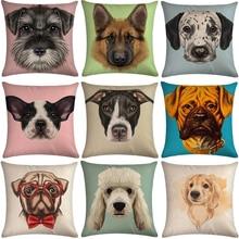 Hond Bank Decoratieve Katoen Linnen Kussenhoes Kussen Kussensloop 45*45 Sierkussen Home Decor Kussensloop 40618