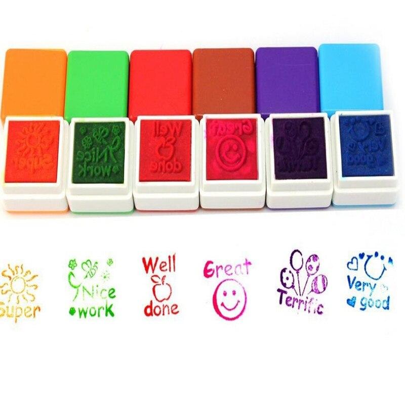 6 pçs/pçs/set professores selos crianças festa favores suprimentos para festa de aniversário brinquedos presente natal diy diário esculpido presente