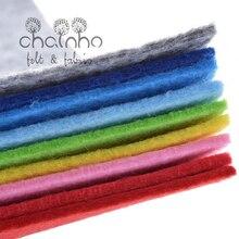 Tela no tejida de fieltro acrílica de poliéster, grosor de 2mm, muñecas para coser DIY/juguetes/Material artesanal, serie monocolor, 9 Uds. 30cm x 30cm