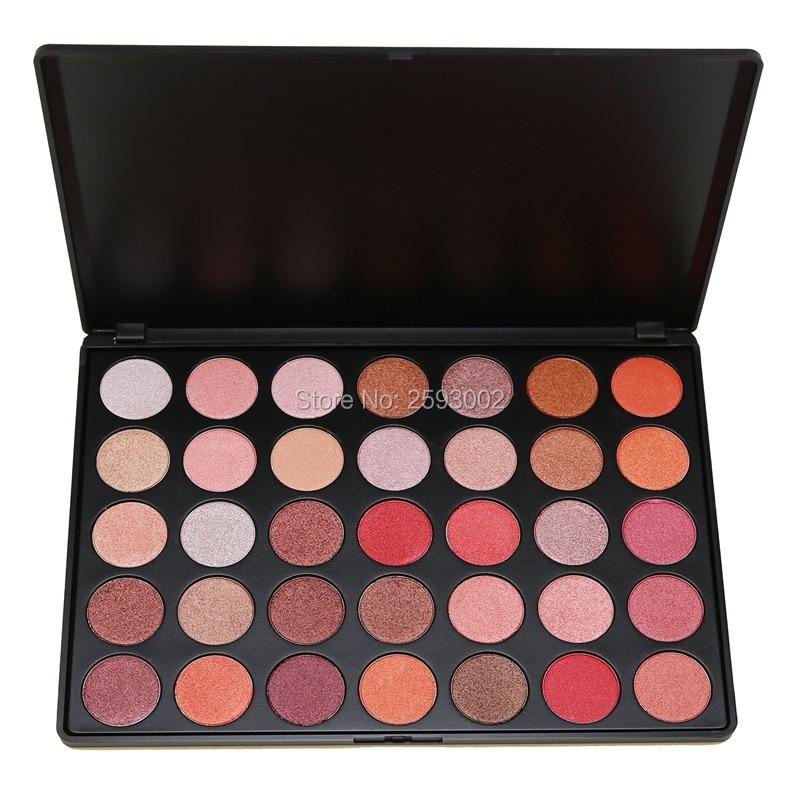 35 colores paleta de sombra de ojos precioso polvo sedoso maquillaje natural profesional paleta ahumado mate cálido sombra de ojos brillante 35OS #