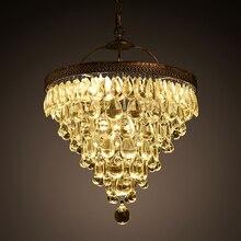 Lustre de luxe Vintage Loft goutte deau K9 cristal plafonnier