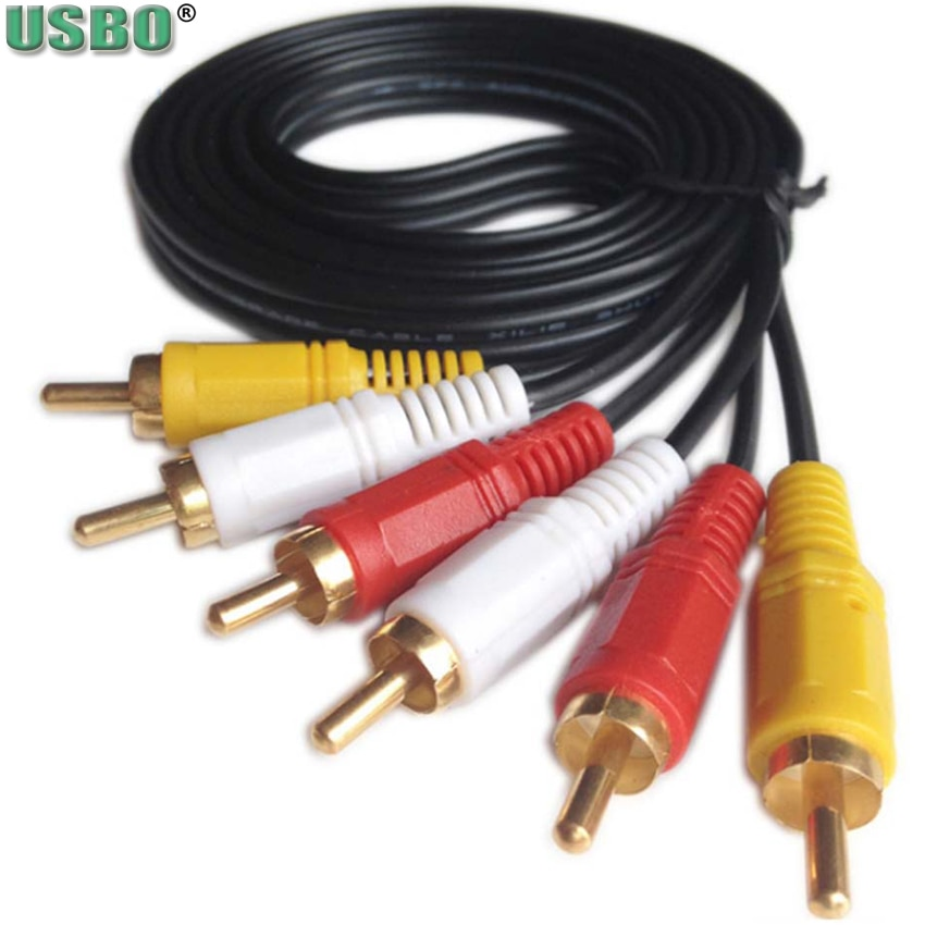 Cable de audio y vídeo AV para decodificador de TV, cable 6...
