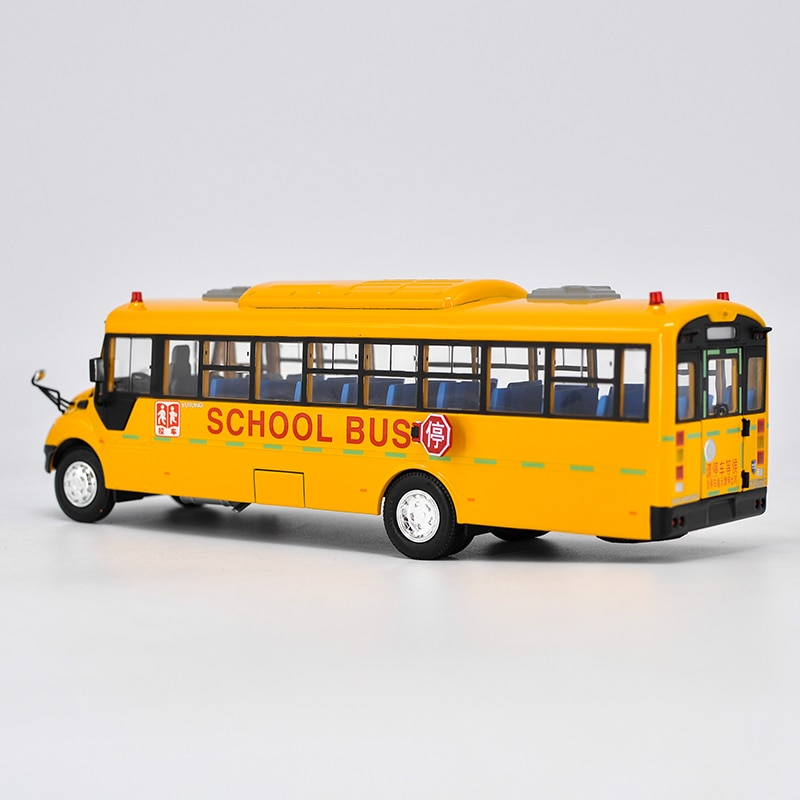 Collectible Alloy Model Gift 1:42 Original Yutong ZK6109DX American School Transit Bus Vehicle DieCast Toy Model For Decoration alloy model 1 24 scale kinglong higer bev pure electric transit bus vehicle diecast toy model for collection decoration