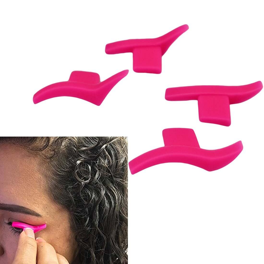Brillo delgado diseño de ojo ala sello de cola 1 par delineador de ojos plantilla modelos de plantilla/maquillaje profesional nuevo estilo de ala/tamaño grande