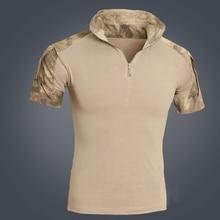 Hommes tactique Multicam court t-shirt Camouflage chasse Combat chemise Emerson Paintball vêtements uniforme militaire