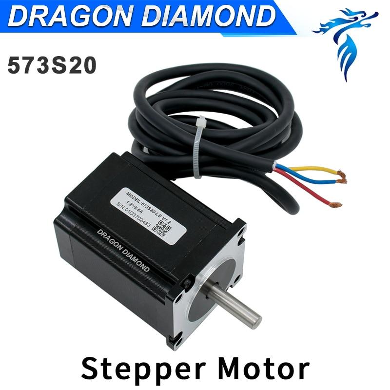 NEMA 23 Leadshine Stepper Motor 573S20 3 Phase For CO2 Laser Engraving Cutting Machine
