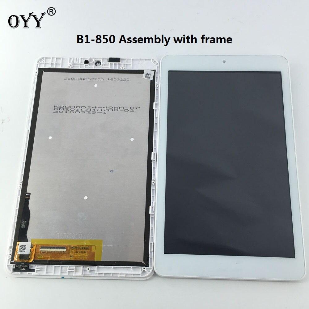 Pantalla LCD pantalla Monitores pb80jg2928 pantalla táctil digitizador de vidrio asamblea para ICONIA uno 8 b1-850 a6001 Tablet PC blanco