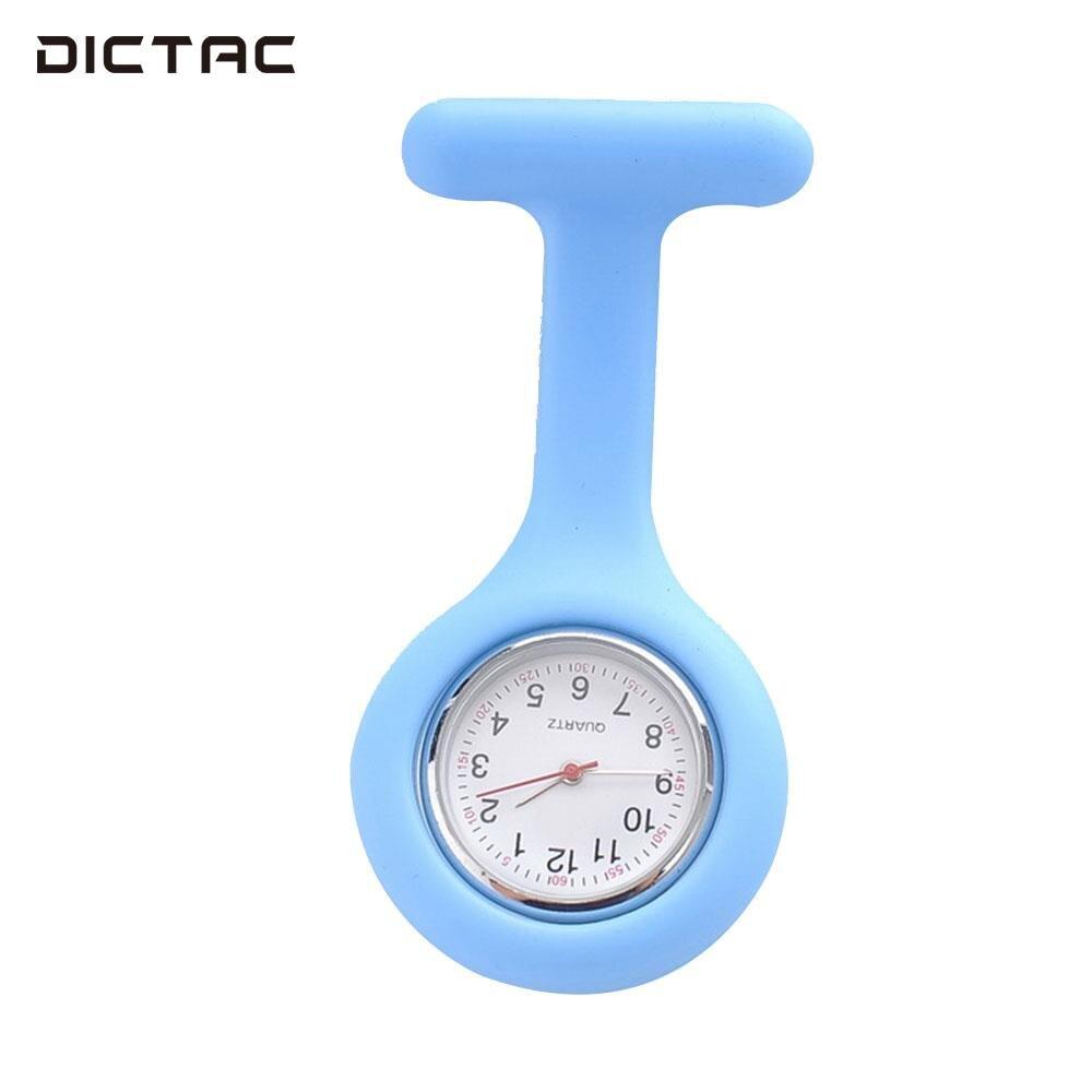 Blauw Leuke Mode Siliconen Verpleegkundigen Broche Tunic Fob Horloge Kids Jongen Meisje Gift