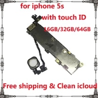 for iphone 5s clean icloud motherboard with ios system 16gb 32gb 64gb mainboard with without touch id full chips logic board