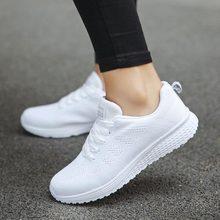 Hundunserpent été maille chaussures de Sport dame chaussures de course baskets femme chaussures de Sport femme blanc Scarpe Donna B-198