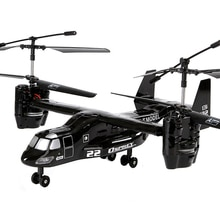 Hélicoptère RC us Airforce Osprey V22 2.4G Super robustesse infrarouge I/R télécommande avion avec gyroscope USB RTF jouet électronique