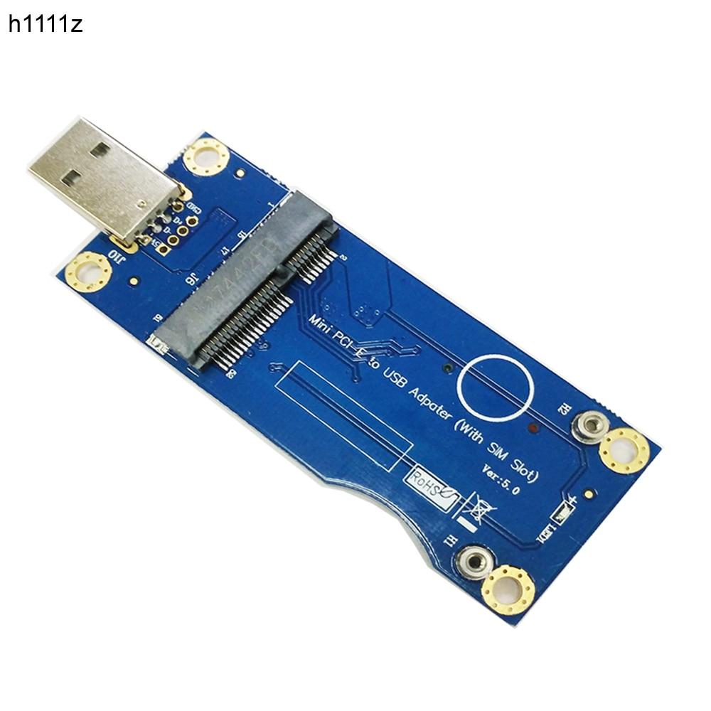 Adaptador USB a Mini PCI-E con ranura para tarjeta SIM para módulo LTE WWAN, Mini tarjeta PCIE a USB 2,0, Soporte para PC de escritorio, tarjeta SIM de 6 pines y 8 pines