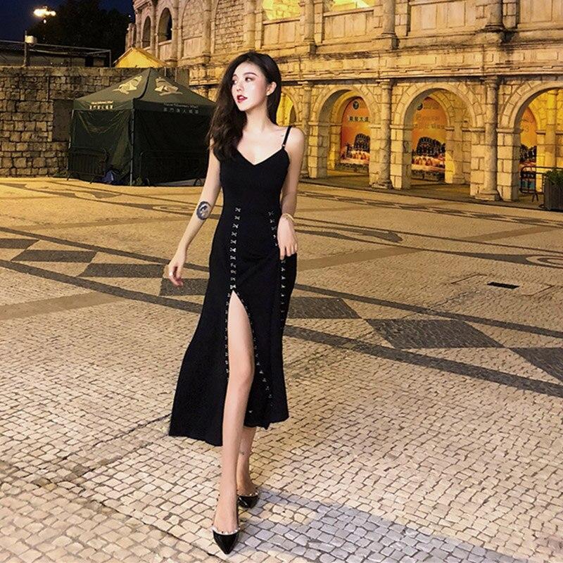 Venta al por mayor barata 2018 nuevo verano Venta caliente mujer moda Casual vestido Sexy de discoteca L410