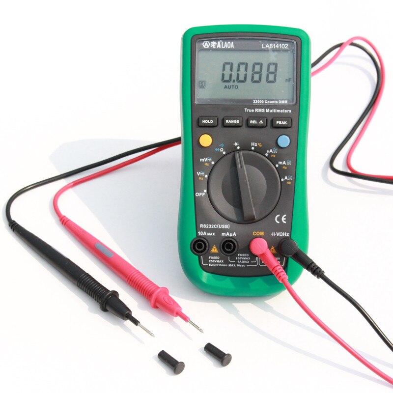 Multímetro Digital LAOA, amperímetro CA/CC, voltímetro Ohm, medidor portátil de voltaje, multímetro de abrazadera, sonda, herramientas profesionales