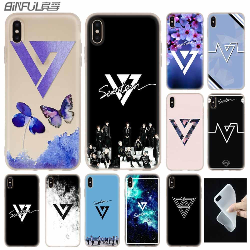 17 JUN DK JOSHUA kpop caso de la cubierta de silicona suave para iPhone X XS X 11 Pro Max XR 6S 6 7 8 Plus 4 5S SE 9 teléfono casos estuche