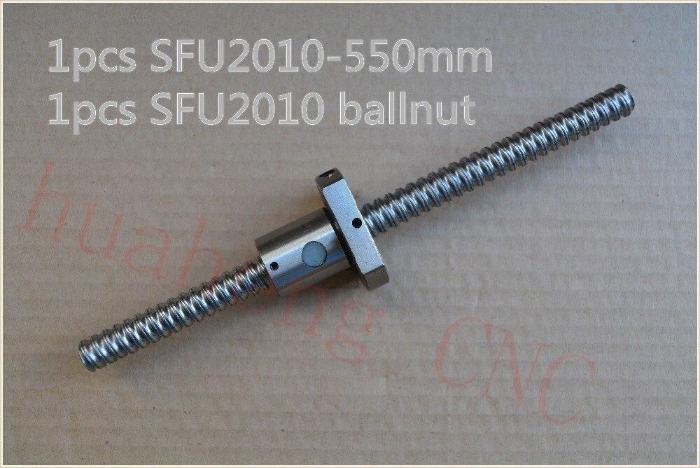 Diámetro 20mm tornillo de bola SFU2010 550mm longitud más RM2010 2010 husillo de bolas CNC máquina de tallado DIY 1 Uds