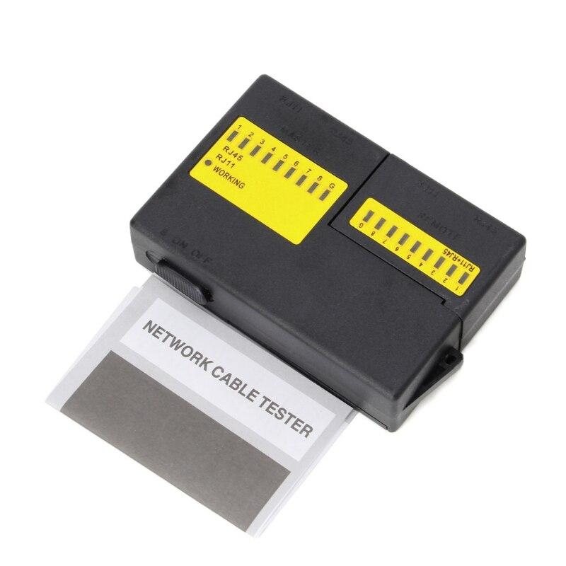 1 Набор Профессиональный Супер Мини Сетевой LAN кабель провод Cat5 RJ11 RJ45 тестер Новый высокоскоростной Горячий
