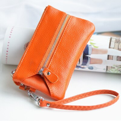 Genuing leather key holder wallet cow leather cards holder and coin holder bags woman and man key ba