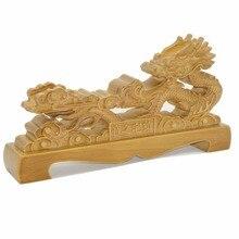 Solid Wood Katana Stand Sword Holder Samurai Wakizashi Tanto Display Chinese Dragon Shape for Home Decoration