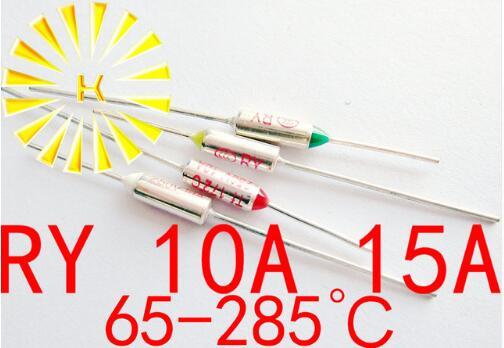 5 uds x RY termal Cutoff TF 65-285 grados Termal-Enlaces 10A 15A 250V fusible de temperatura Resistor