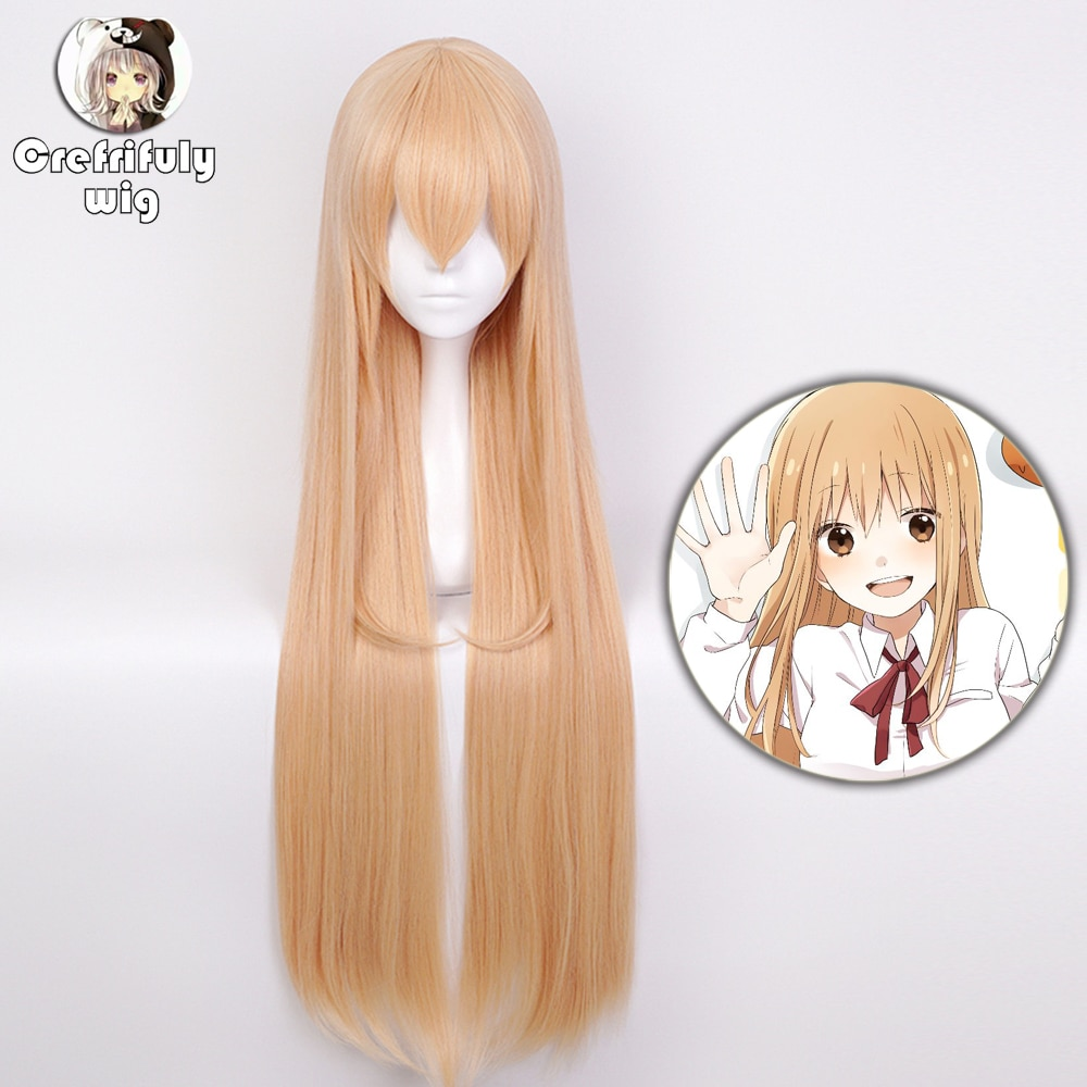 High Quality Himouto! Umaru-chan Doma Umaru Cosplay Wig Synthetic Hair Light Orange Long Straight Halloween Costume Play Wigs himouto umaru chan japan anime led watch waterproof touch screen women wrist watches comics cartoon christmas gift