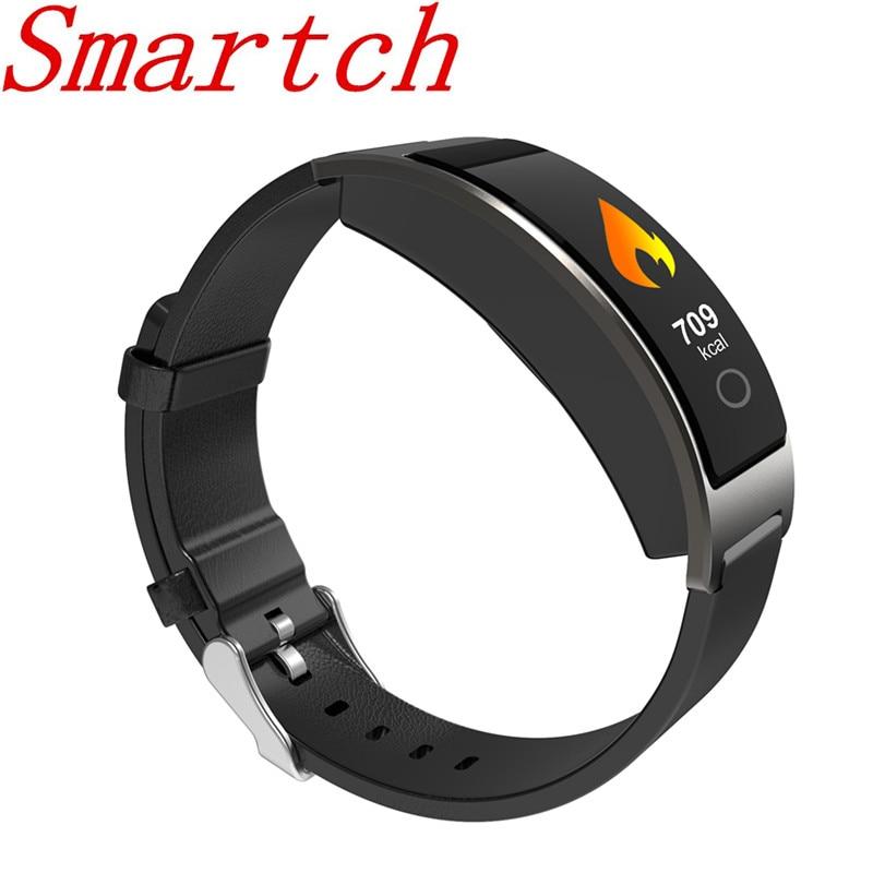 Smartch nuevo CK11C pulsera inteligente banda inteligente presión arterial Monitor de ritmo cardíaco reloj de pulsera inteligente rastreador