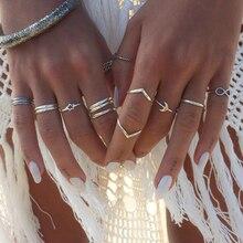 Nouvelle bague mode populaire personnalité bohème Style National bague pour femmes combinaison ensemble anneau bijoux en gros