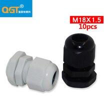 10 pièces-glande de câble en Nylon étanche IP68 M18   De haute qualité