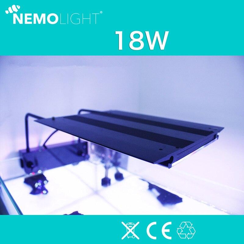 18 w 110-240 v nemolight controle de programa inteligente led aquário luz grama de água coral mar nemo luz adequada para 30-40 cm