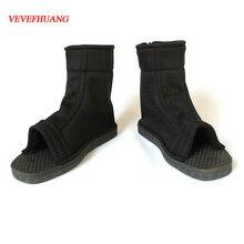 VEVEFHUANG Bor Uto สัตว์ Hаруто คอสเพลย์เกม Goth รองเท้า Konoha สีดำ Demonias รองเท้า Kосплей Kakashi Breathable ฮาโลวีน