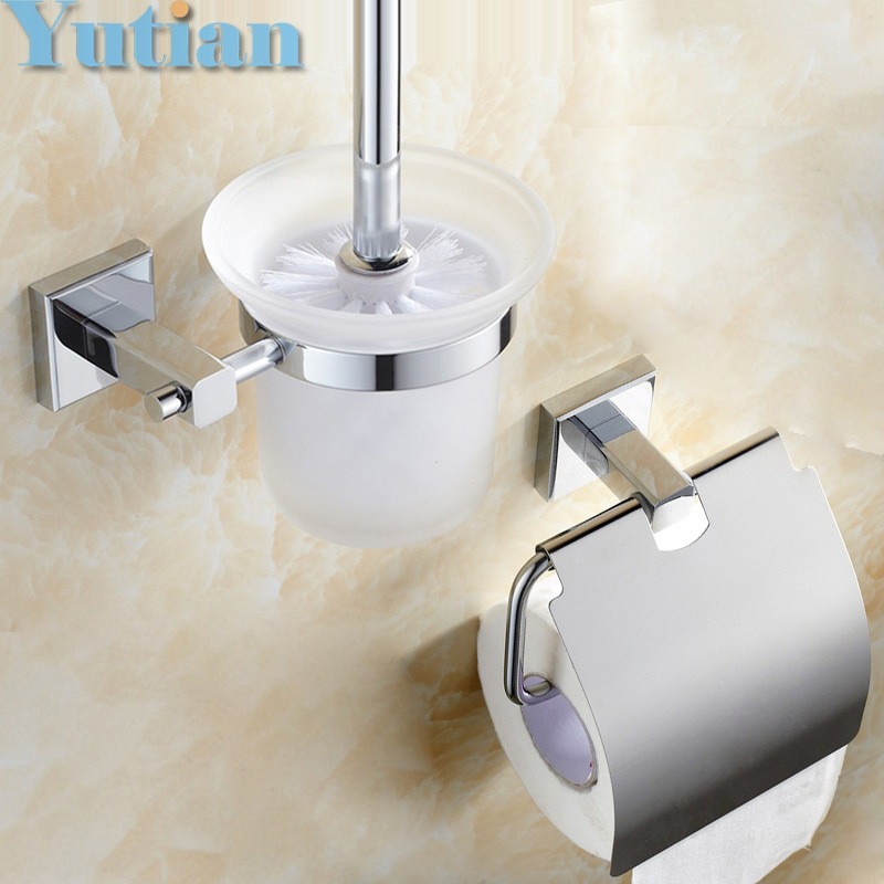 شحن مجاني ، النحاس ملحقات الحمام مجموعة ، ورقة حامل فرشاة المرحاض حامل ، الحمام مجموعات ، YT-10900-2