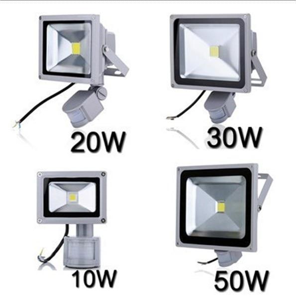ضوء الاستشعار في الهواء الطلق 10 W 20 W 30 W في الهواء الطلق مصباح ليد 50 W motion مصباح لجهاز الاستشعار في الهواء الطلق فوكو الصمام الخارجي