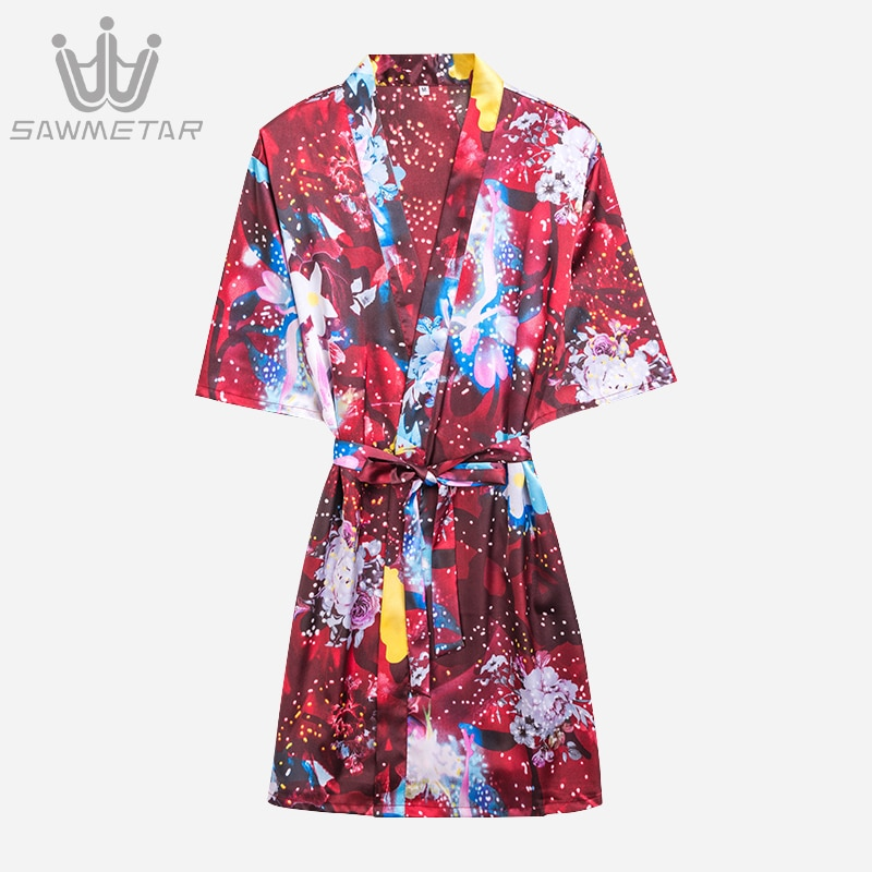 Woman Wedding Bridesmaid Rob Set Lady Sexy Silk Robe Satin Bathrobe Sleepwear Summer Dressing Gown Pajamas 2021 New Style