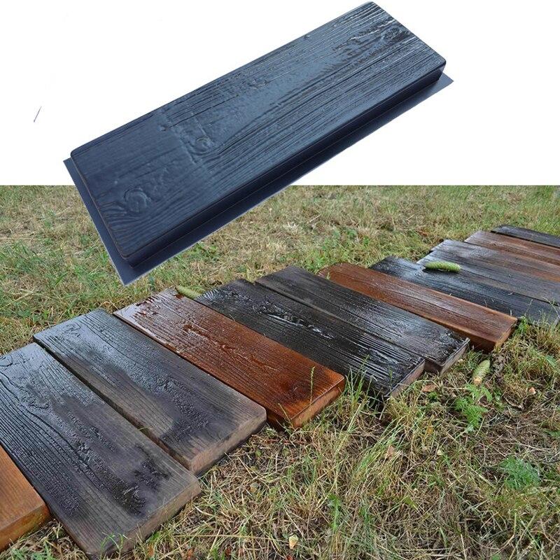 2 uds. Molde de pavimentación ABS, textura decorativa para suelo, camino de acceso, pavimento, ladrillo, jardín, edificios, molde para caminar 63X23X5CM