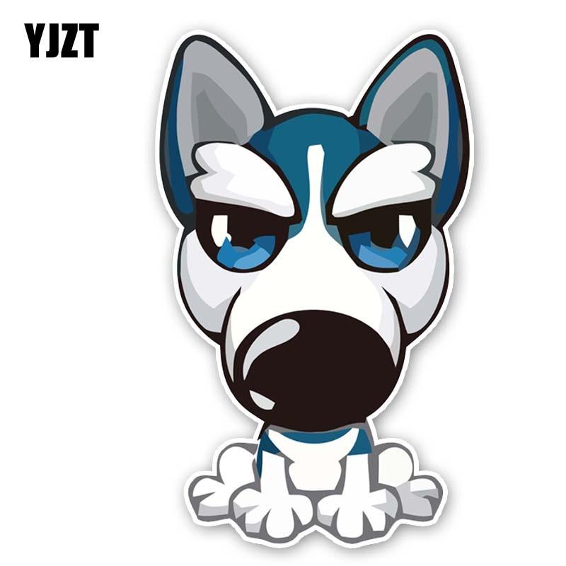 YJZT 9,5 CM * 15,4 CM Husky adorable perro de PVC de...
