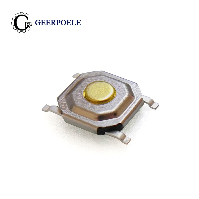Interruptor de botón táctil de Metal, pulsador táctil Micro táctil de 12V,...