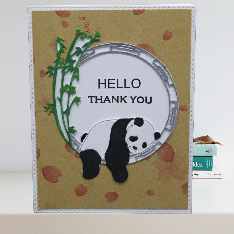 Cute Panda металлические режущие штампы для скрапбукинга, фотоальбома, изготовление бумажных открыток, декоративное тиснение, трафарет, ремесл...